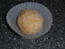Weisse Schokoladenkugeln mit Orangen und Kokos - Rezept