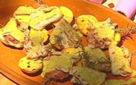 Saltimbocca mit gegrillten Pfirsichen - Rezept