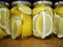 Zitronen süß eingelegt - Rezept