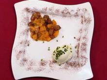 Mascarpone-Limetteneis an Feigen-Apfelsinen-Kompott - Rezept
