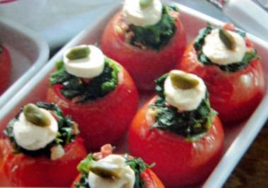 Spinat Tomaten - Rezept