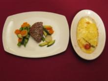 Rinderfilet geschwenkt in Knoblauch, Kardamom und Vanille mit buntem Gemüse - Rezept