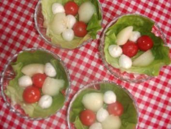 Mozzarella-Melonen-Schalen - Rezept
