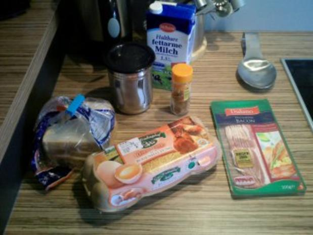 """FRÜHSTÜCK"" French Toast mit Bacon - Rezept - Bild Nr. 2"