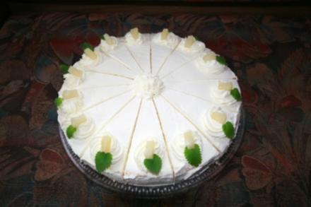Ananas-Sahne-Torte - Rezept