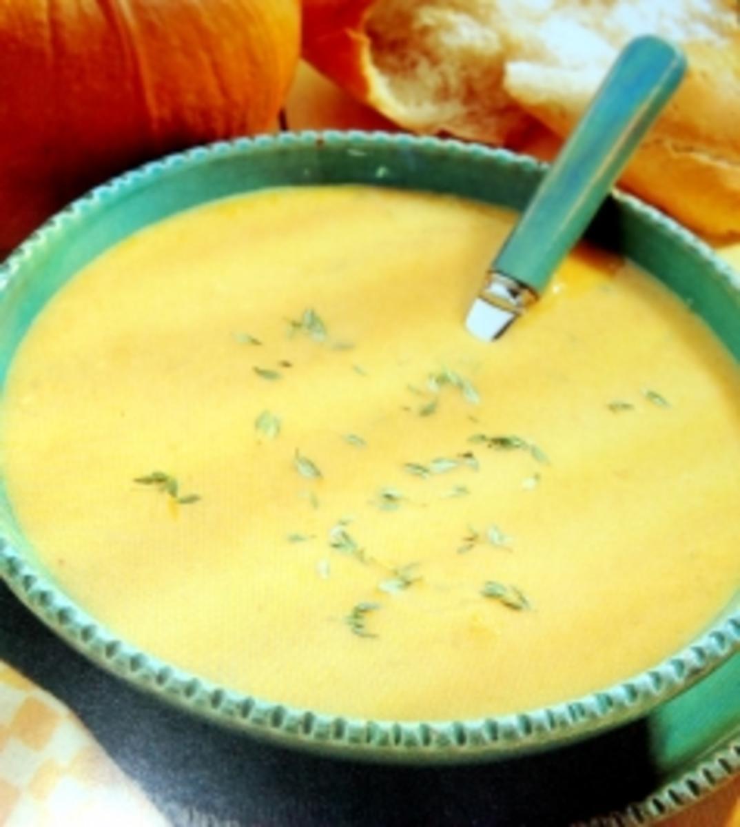 Kürbissuppe Orange - Thymian Rezept Gesendet von marion1961