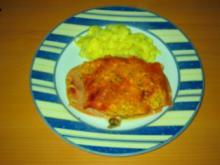 Schweinefilet mit Tomaten, Champignons und Schinken - Rezept