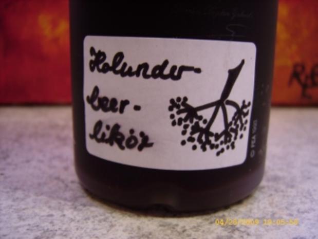 Holunderbeerlikör - Rezept