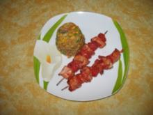 Pikante Tomaten-Hähnchen-Spieße - Rezept