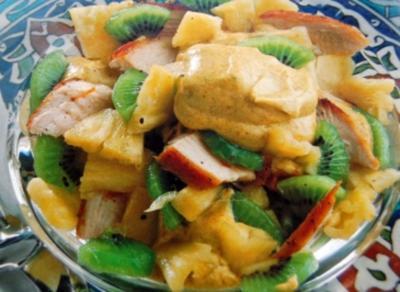 Geflügelsalat mit Curry Majo - Rezept