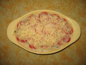 Rezept: Nudelauflauf mit Garnelen und Thunfisch