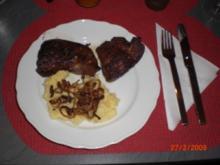Gebackene Leber mit Kartoffel-Selleriepüree - Rezept