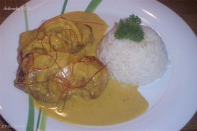 Rezept: Schweinesteak mit fruchtiger Curry-Rahm-Soße