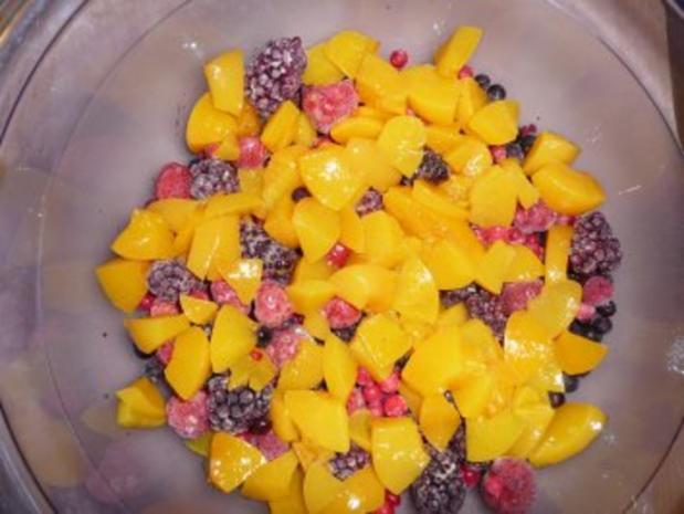 Himbeer - Pfirsich -Joghurt - Schichtquarkspeise - Rezept - Bild Nr. 3