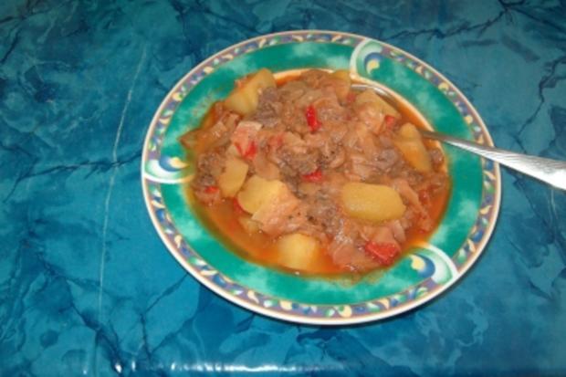 Weisskohl mit Fleisch - Rezept