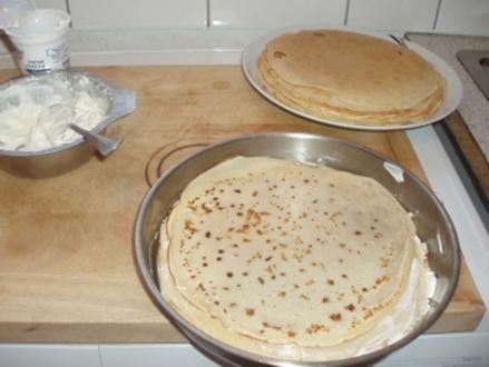 Creme-fraiche Pfannkuchen - Rezept