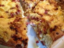 Masurischer Käse-Zwiebel-Kuchen - Rezept