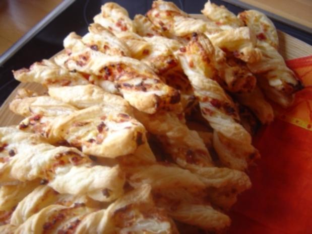 Schinken Käse Stangen Aus Blätterteig Rezept Kochbarde