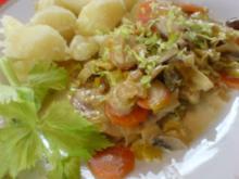 Schnitzel mit Gemüsesoße - Rezept