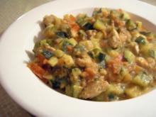 Cremige Gemüse-Puten-Rahm Pfanne - Rezept