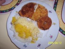 Hähnchenschnitzel nit Curry-Ananas-Soße - Rezept