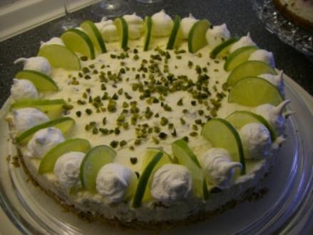 Torte : Quark-Limetten-Torte - Rezept