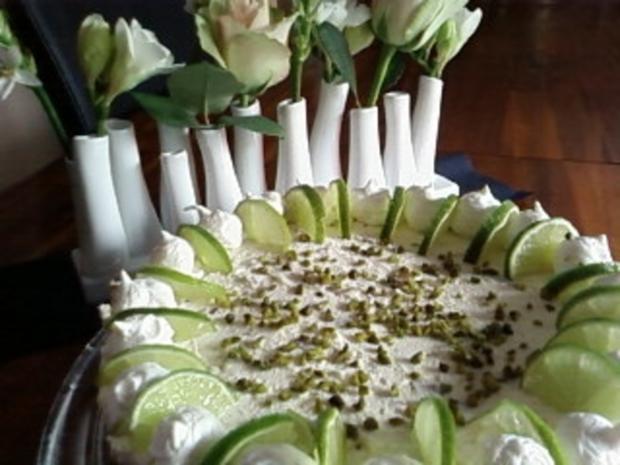 Torte : Quark-Limetten-Torte - Rezept - Bild Nr. 2