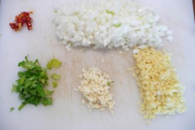Scharfes Auberginen-Curry - Rezept