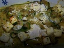 Zucchini mit Schäfskäse überbacken - Rezept