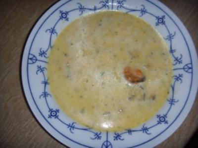 Geschäumtes Muschelsüppchen - Rezept