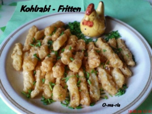 Gemüse  Kohlrabi ~ Fritten - Rezept