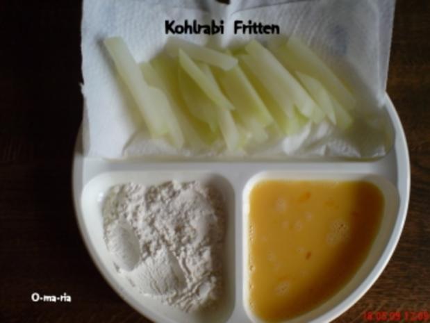 Gemüse  Kohlrabi ~ Fritten - Rezept - Bild Nr. 2