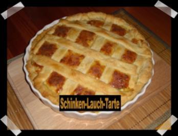 Schinken-Lauch-Tarte - Rezept