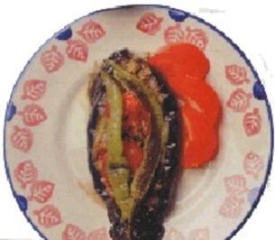 Türkisch: Karniyarik (gefüllte Auberginen) - Rezept
