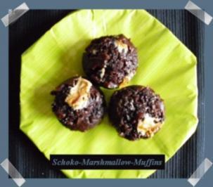 Schoko-Marshmallow-Muffins - Rezept