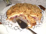 Kirschkuchen mit Creme fraiche-Guß - Rezept