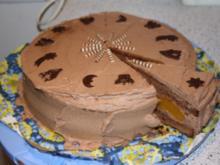 Aprikosen - Schokosahne - Torte - Rezept