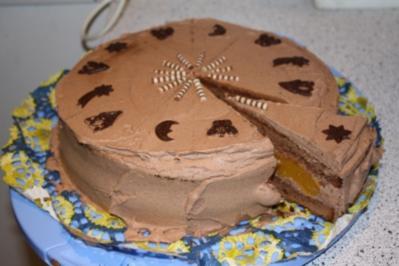 Rezept: Aprikosen - Schokosahne - Torte