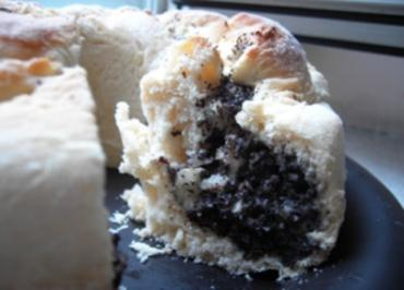 Rezept: Kuchen: Mohn-Nuss-Apfel-Kranz