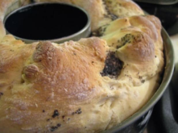 Kuchen: Mohn-Nuss-Apfel-Kranz - Rezept