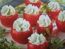 gefüllte Tomaten mit Frischkäsefüllung - Rezept