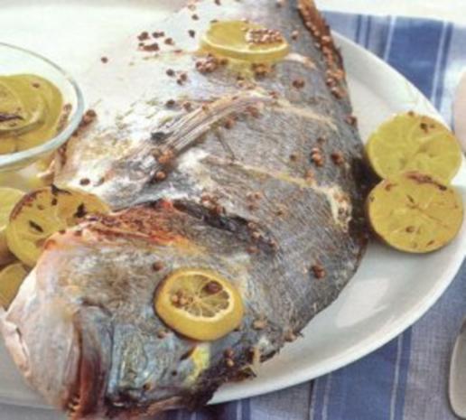 fisch goldbrasse mit koriander und zitrone - Rezept