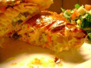 Fisch: Lachsforelle in Blätterteig - Rezept