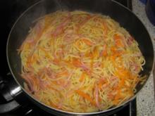 Spaghetti Tricolorie - Rezept