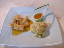 Gratinierte Wirsingbällchen mit Pancetta und Aprikosen- Hähnchenbrust - Rezept