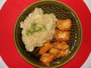 Salat : -Warmer Kartoffel-Gurkensalat- - Rezept
