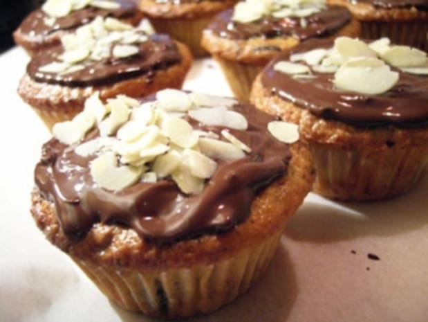 Muffins: Banane Schoko mit Nougatkern - Rezept