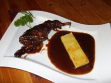 Kaninchen in Rotwein-Kräuter-Sosse - Rezept