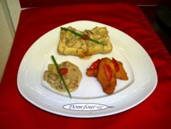 Rezept: Champignons mit fritterten Möhren