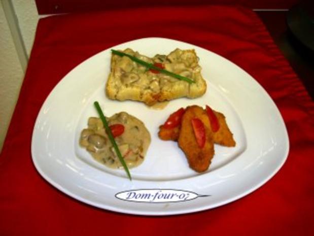 Champignons mit fritterten Möhren - Rezept
